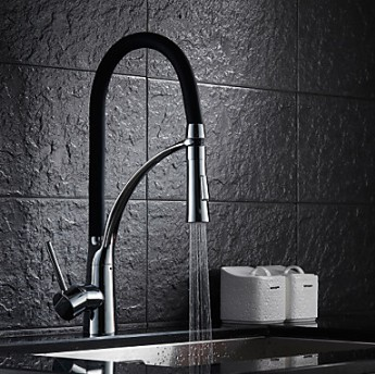 Kitchen Faucets , Transitional with Chrome Single Handle One Hole , Feature for Pull out TP1777B