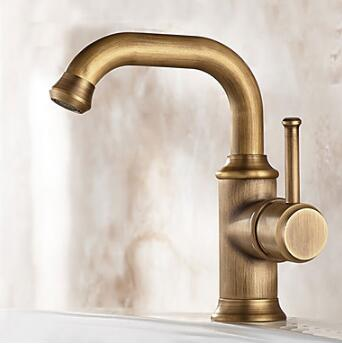 Antique Centerset Widespread Rotatable Pre Rinse with Ceramic Valve Single Handle One Hole for Nickel Brushed , Bathroom Sink Faucet TP0399A