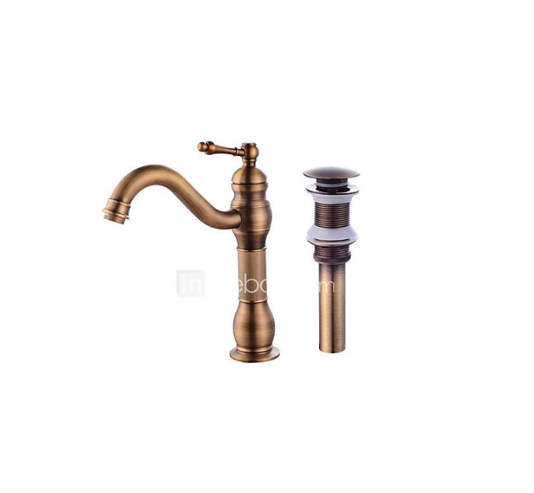 Contemporary CentersetCeramic Valve One Hole for Antique Copper , Bathroom Sink Faucet TP0403A