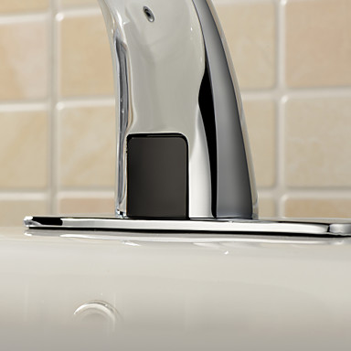Bathroom Sink Faucets Contemporary Touch/Touchless Brass Chrome