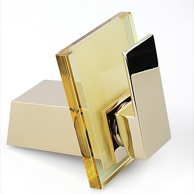 Bathroom Sink Faucets Country Waterfall Brass Ti-PVD