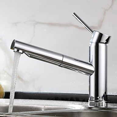 Contemporary Pullout Spray Brass Chrome