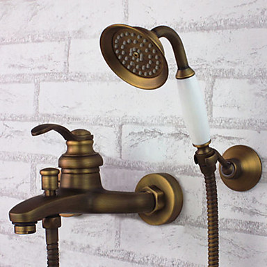 Bathtub Faucet Antique Handshower Included Brass Antique Brass