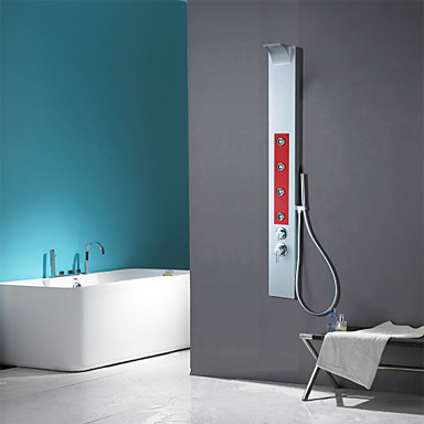 Shower Faucet Contemporary Waterfall / Sidespray / Handshower Included Aluminum Painting