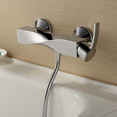 Sprinkle® by Lightinthebox - Chrome Finish Single Handle Wall Mount Shower Faucet