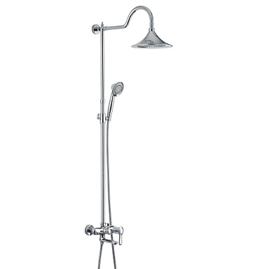 Shower Faucet / Bathtub Faucet Antique Rain Shower / Sidespray / Handshower Included Brass Chrome