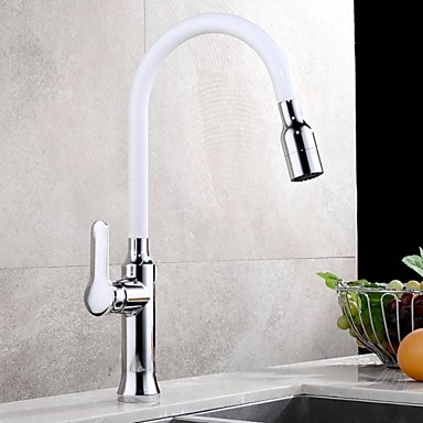 Kitchen Faucet Contemporary Pullout Spray Brass Painting