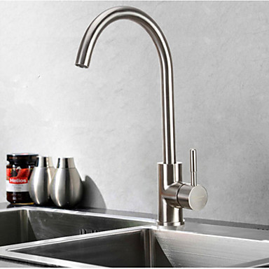 304 Stainless Steel Lead-Free Kitchen Mixer Tap Faucet Nickel Brushed