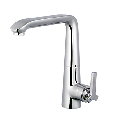 ENZORODI Kitchen Sink Faucet Tap 360 Rotatable Lead Free Brass 1-Handle Brass Polished Chrome ERF773107C