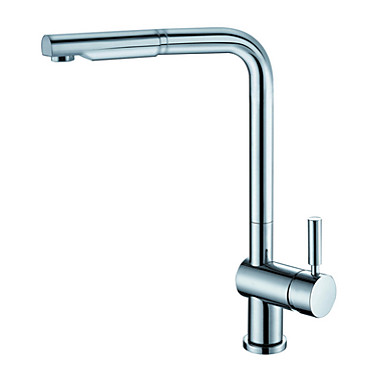 Brass Chrome Single Handle Pull Out Sprayer Kitchen Faucet Faucet