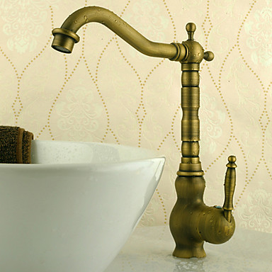 Antique Brass Finish Single Handle Kitchen Faucet