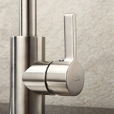 Sprinkle® by Lightinthebox - Contemporary Stainless Steel Brushed Chrome Finish Kitchen Faucet
