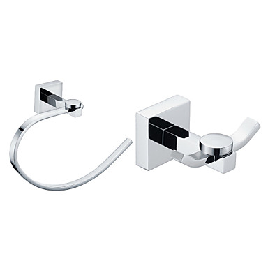 Chrome Finish Brass Bathroom Accessory Sets (Include Robe Hooks,Towel Rings)