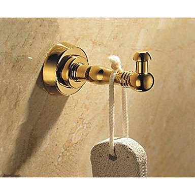 Bathroom Robe Hook Brass Made with Polished Gold Finish