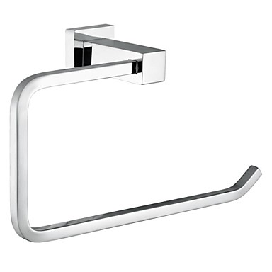 Bathroom Accessories Square Solid Brass Towel Ring,Brass Chrome Bathroom Accessory