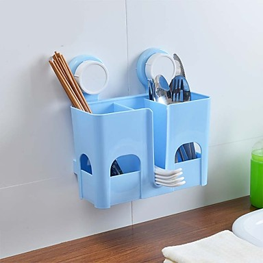 Colourful Strong Sucked Type PP Bathroom Or Kitchen Basket