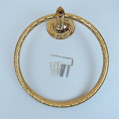 Antique Wall-mounted Ti-PVD Finish Towel Ring