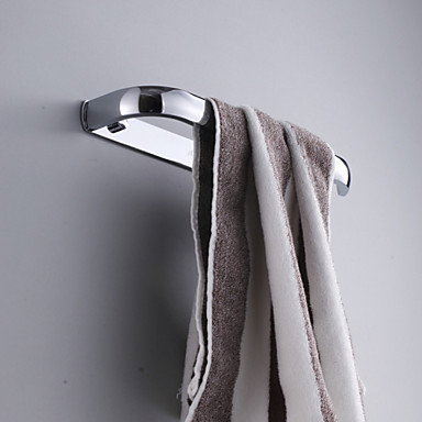 Contemporary Chrome Finish Brass Material Towel Ring
