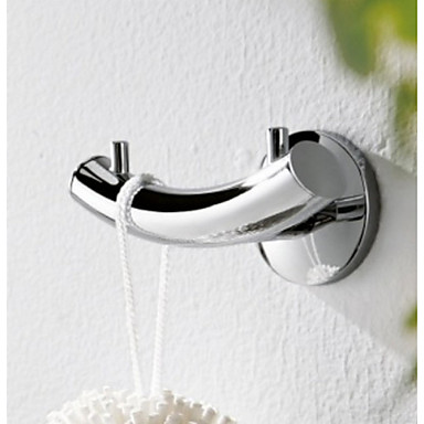 ENZORODI Bathroom Accessories,Robe Hook,Towel Rack,Contemporary Chrome Finish Solid Brass,Wall Mount ERD7477C