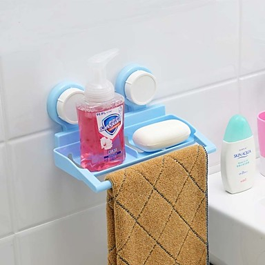 Strong Sucked Type PP Bathroom Rack With Tower Bar