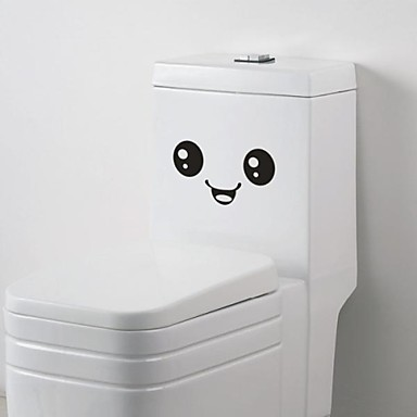 Cartoon Expression Toilet Posted Toilet Sticker