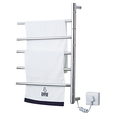 50W Swing Arm Wall Mount Circular Tube Towel Warmmer Drying Rack