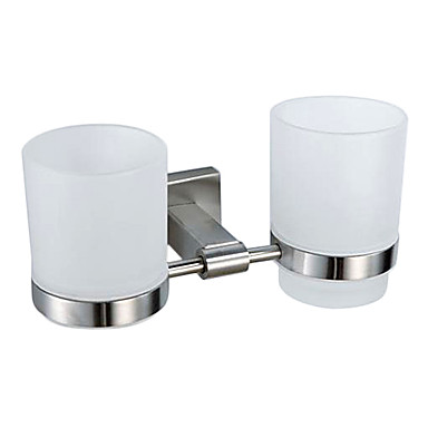 Contemporary Nickel Brushed Finish 304 Stainless Steel Toothbrush Holder123