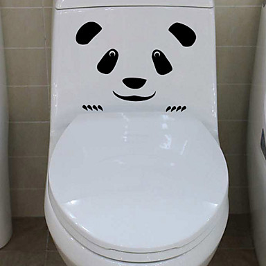 Wall Stickers Wall Decals, Panda Face Bathroom Decor Mural PVC Wall Stickers