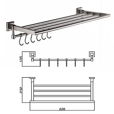 24 inches Modern Wall Drawing # 304 stainless steel towel rack up and down