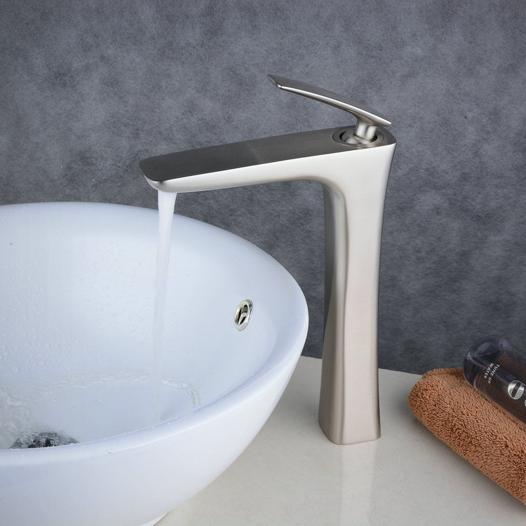 how to set a kitchen sink nickel brushed single handle lever bathroom sink 8901